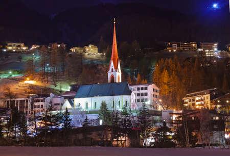 innsbruck: Mountains ski resort Solden Austria - nature and architecture background