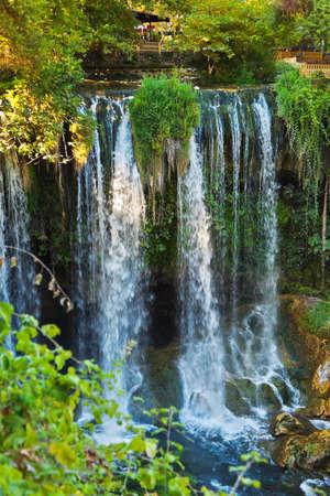 turkey beach: Waterfall Duden at Antalya Turkey - nature travel background