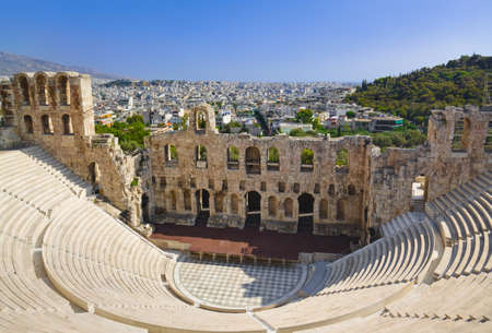 The Odeon theatre at Athens, Greece - view from Acropolis photo