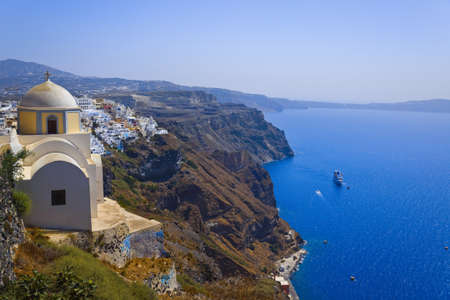 thira: Santorini View  Thira  - vacation background