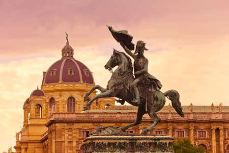 karl: Horse and rider  Archduke Charles   Erzherzog Karl  memorial - Vienna   Wien Austria
