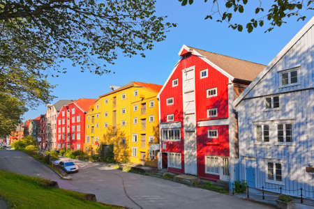 Cityscape of Trondheim, Norway - architecture background Stock Photo
