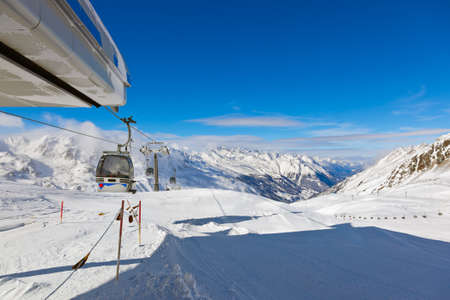 Mountain ski resort Hochgurgl Austria - nature and sport background photo