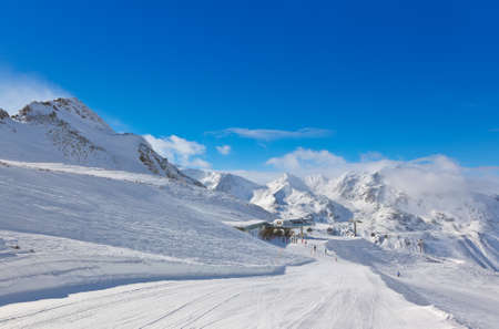 Mountain ski resort Hochgurgl Austria - nature and sport background