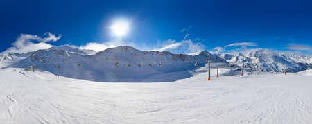 Montagne station de ski Hochgurgl Autriche - la nature et le sport de fond Banque d'images