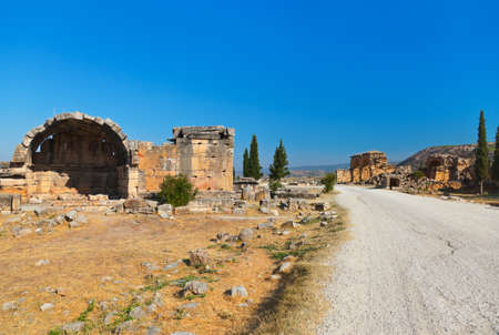 Old ruins at Pamukkale Turkey - architecture background photo