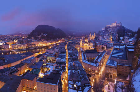 Salzburg Austria at winter - architecture background Stock Photo - 16456008