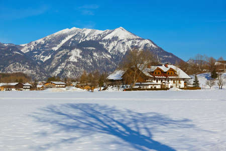 Mountains ski resort Strobl Austria - nature and sport background