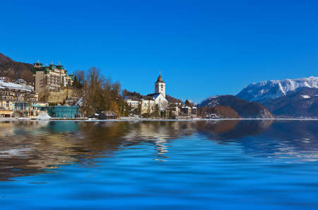 Village St Wolfgang on the lake Wolfgangsee - Salzburg Austria photo