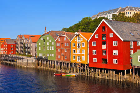 Cityscape of Trondheim, Norway - architecture background Redakční