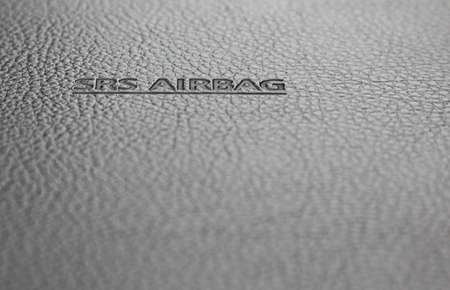SRS Airbag sign - technology safety background photo