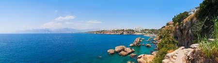 turkey beach: Beach at Kaleici in Antalya, Turkey - travel background
