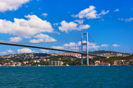 Bosphorus bridge in Istanbul Turkey - connecting Asia and Europe photo
