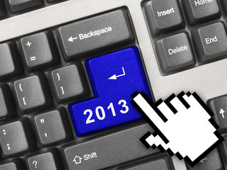 Computer keyboard with 2012 key - holiday concept Stock Photo - 16545706