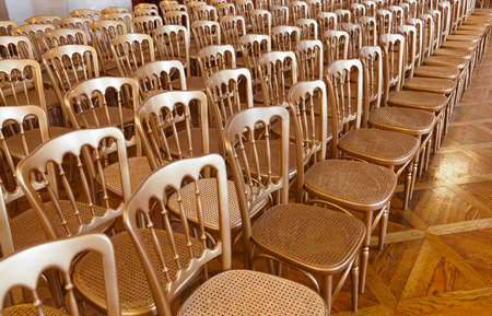 Rows of chairs - meeting background photo