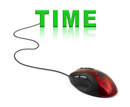 Computer mouse and word Time - business concept Stock Photo - 16638025