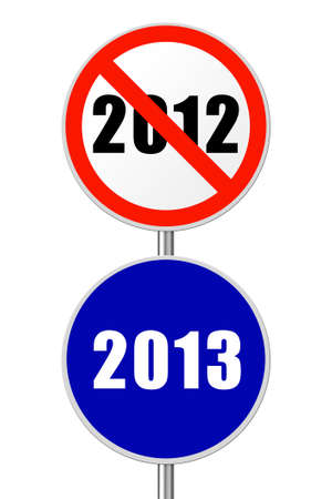 Round sign 2013 - New Year concept isolated on white background photo