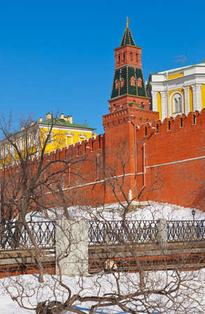 Kremlin in Moscow  Russia  at winter photo