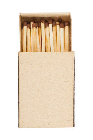 matchstick: Open matchbox isolated on white background Stock Photo