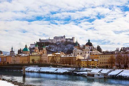 salzburg: Architecture in Salzburg Austria - travel background