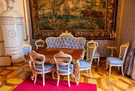Interior of palace in Salzburg Austria - retro architecture background Stock Photo - 17654260