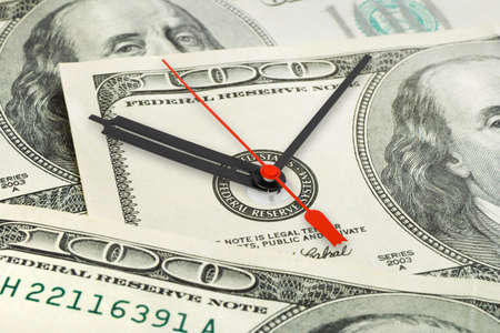 face work: Time is money - business concept background Stock Photo