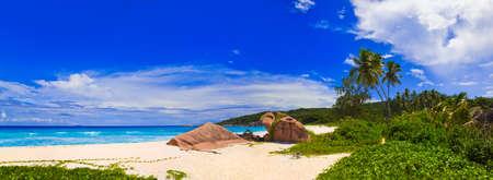 Panorama of tropical beach - nature background photo