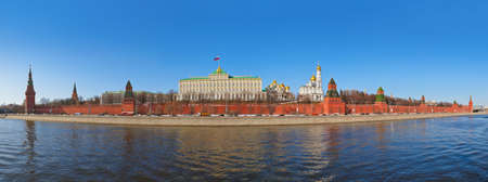 Panorama of Kremlin in Moscow  Russia  at winter photo