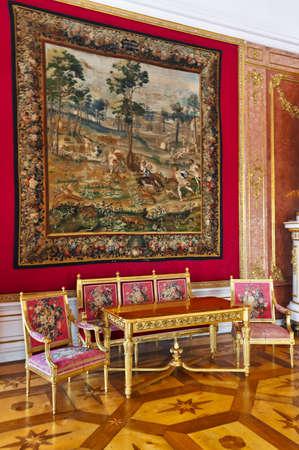 Interior of palace in Salzburg Austria - retro architecture background Stock Photo - 17654243