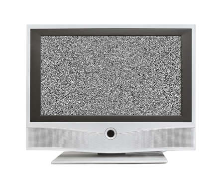 Noise on TV screen isolated on white background Stock Photo - 17661661