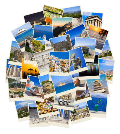 Stack of Greece shots  - nature and travel background (my photos) photo