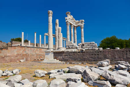 Temple of Trajan at Acropolis of Pergamon - Turkey photo