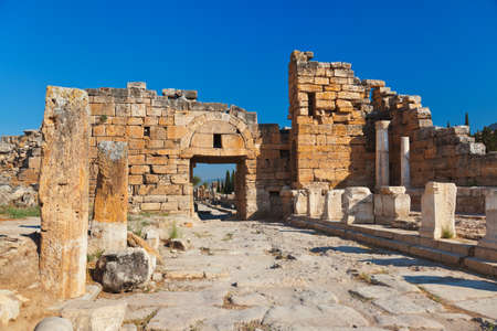 archaeology: Old ruins at Pamukkale Turkey - architecture background