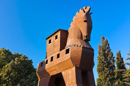 troya: Trojan Horse at Troy Turkey - travel background