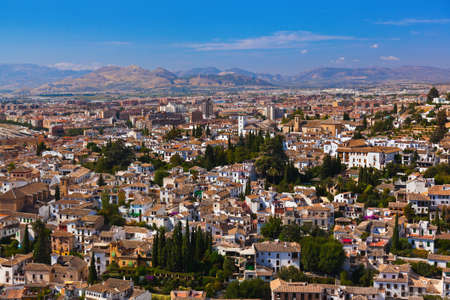 Albaicin (Old Muslim quarter) district of Granada Spain - view from Alhambra palace photo