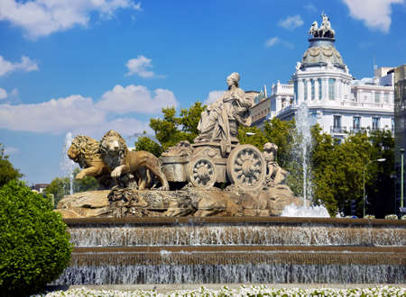 Cibeles fountain at Madrid, Spain - architecture background Reklamní fotografie