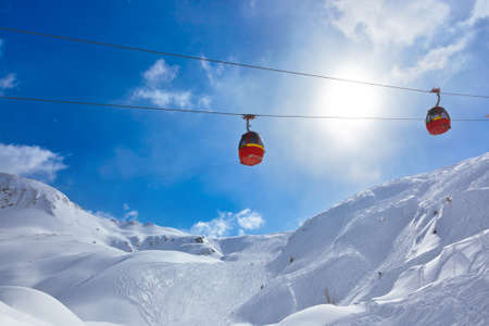 Mountains ski resort Kaprun Austria - nature and sport background photo