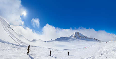 Mountains ski resort Kaprun Austria - nature and sport background photo
