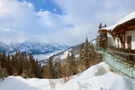 Mountains ski resort Zell am See Austria - nature and sport background photo