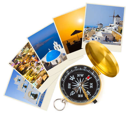 Santorini shots and compass - nature and travel  my photos  photo