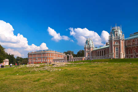 palacio ruso: Tsaritsino palacio - museo ruso en Moscú