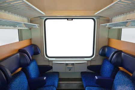 sala recepcyjna: Wnętrze pociągu i puste okna - podróży tła Publikacyjne