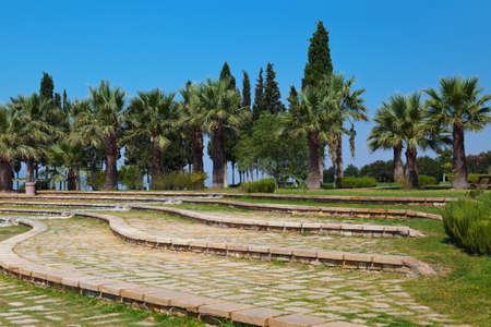 pamuk: Travertino e terrazze Pamukkale - Turchia Archivio Fotografico