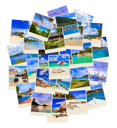 snapshot: Stack of summer beach shots  - nature and travel background  my photos