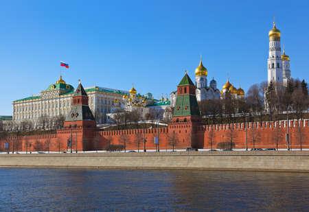 冬のモスクワのクレムリン 写真素材