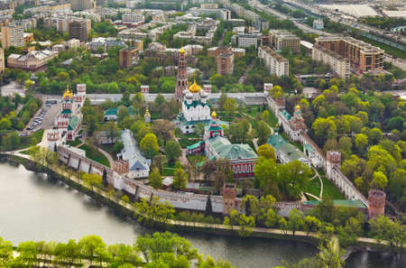convent: Novodevichiy monastery in Moscow, Russia - aerial view