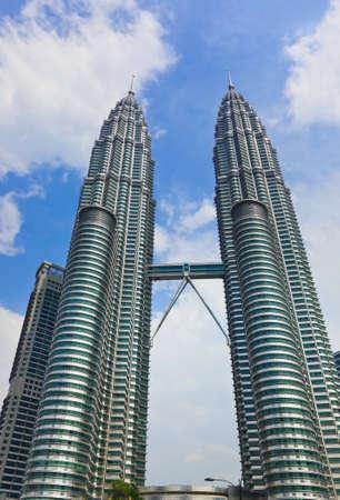 kuala lumpur city: Twin towers at Kuala Lumpur  Malaysia  - architecture background