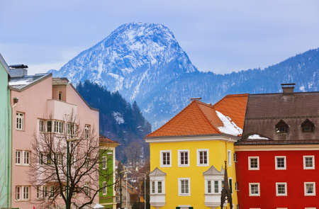 Town Kufstein in Austria - architecture and travel background photo