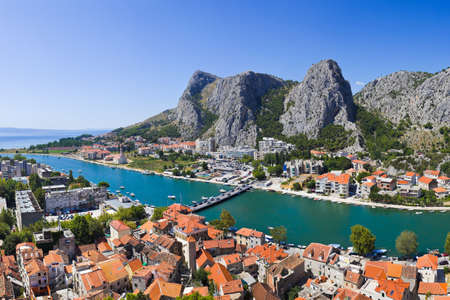 Town Omis in Croatia - travel background photo