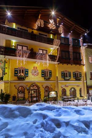 Mountains ski resort Bad Hofgastein Austria - architecture background